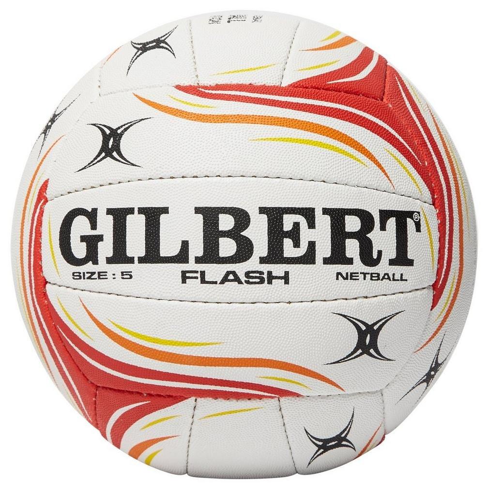 Flash Match Netball - White/Red Gilbert 8688180
