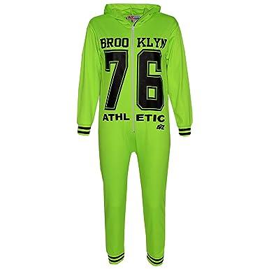 f9f612cc7e A2Z 4 Kids Kinder Mädchen Jungen 76 Athlectic - Brooklyn Onesie Neon Green  7-8
