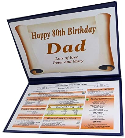 NWM Gifts PERSONALISED 80TH BIRTHDAY GIFT 1939 THE DAY YOU WERE