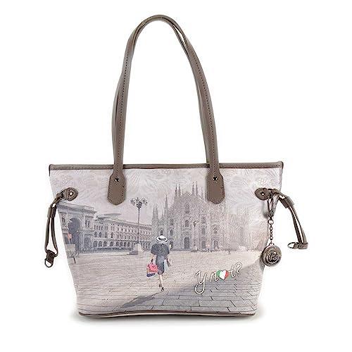 Borsa Y Not stampa Milano art. 336 misura media  Amazon.it  Scarpe e borse 400f279193d
