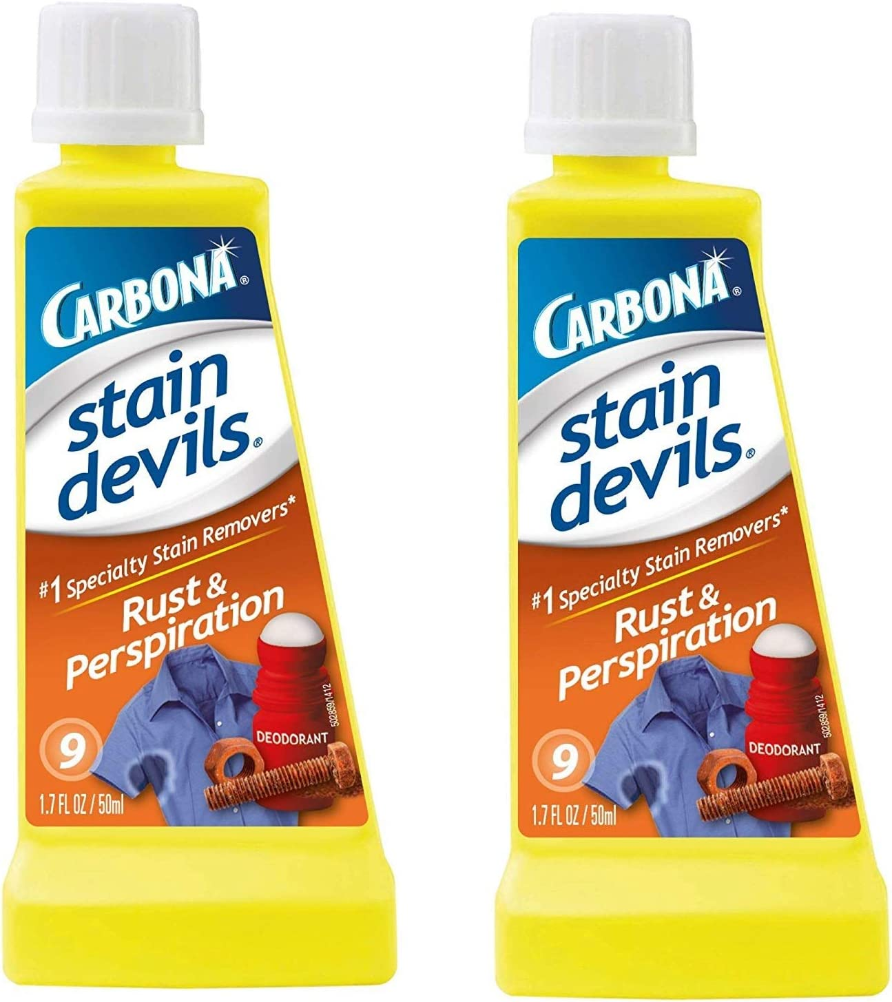 2 x Carbona Stain Devils #9 Rust & Perspiration - 1.7 oz