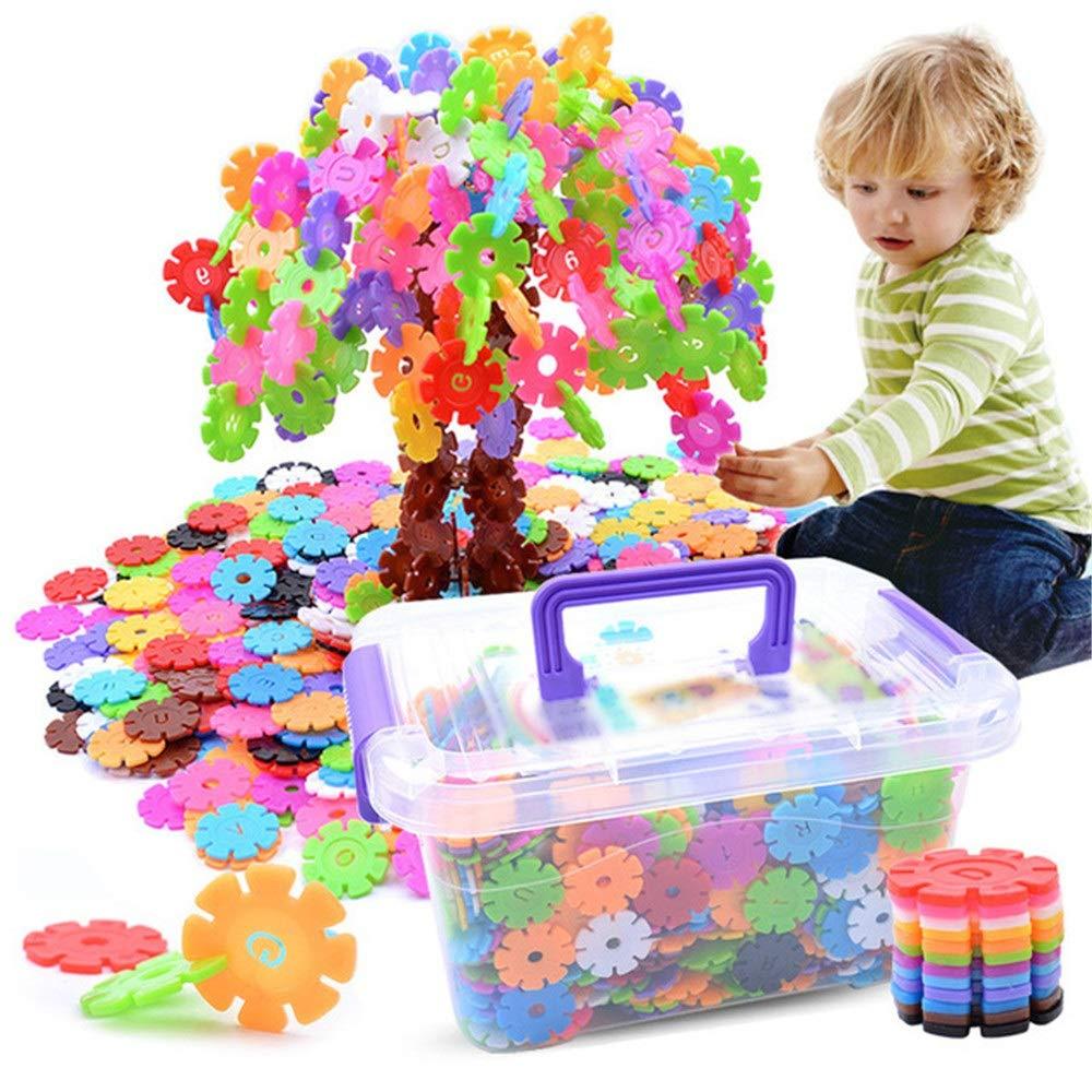 Peggy Gu Hölzerne Tangram Ziegelsteine für Kinder 1200 Stücke Schneeflocke Blöcke trocken pädagogisches Spielzeug Set für Kinder Denksportaufgaben Spielzeug Pädagogische frühe