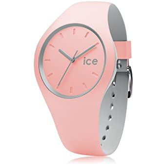 Ice,Watch , ICE duo Pearl blush , Montre rose pour femme avec bracelet en