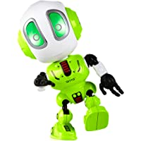 Talking Robots for Kids - Ditto Mini Robot Travel Toy with Posable Body, Smart Educational Stem Toys, Voice Changer and Robotics for Kids (Green)