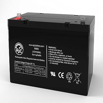 Centennial CBM-50 12V 55Ah Wheelchair Battery - This is an AJC Brand Replacement