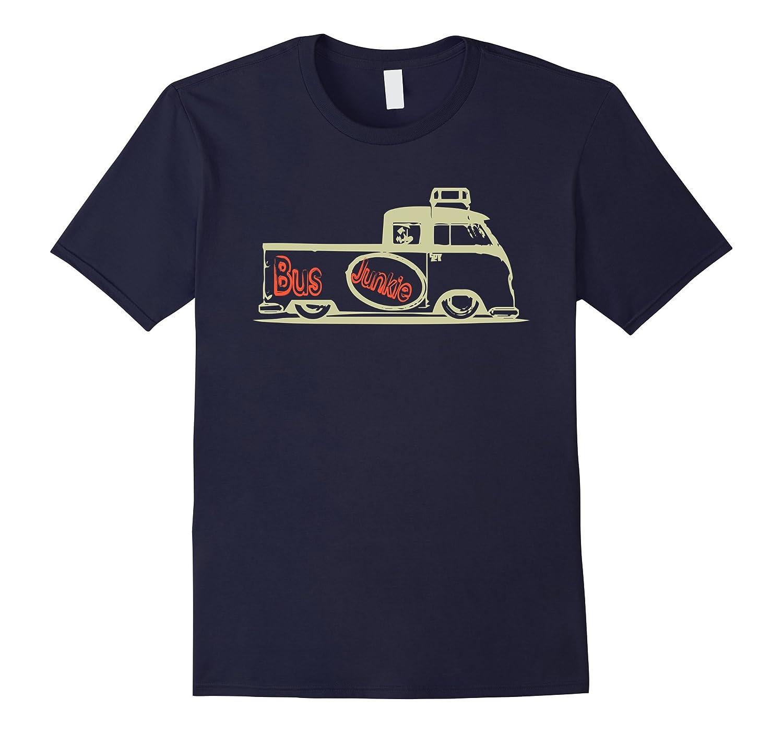 Bus Junkie: Double Cab Truck Bus Van Car Auto Hippie Tshirt-TH