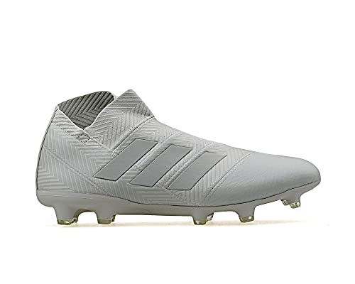 adidas Nemeziz 18+ FG, Bota de fútbol, Ash Silver-White Tint,
