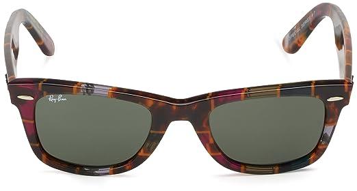 Ray-Ban Wayfarer, Gafas de Sol Unisex, Multicolor (Havana Cyclamin Olive Brown / Green 1106), 50 mm