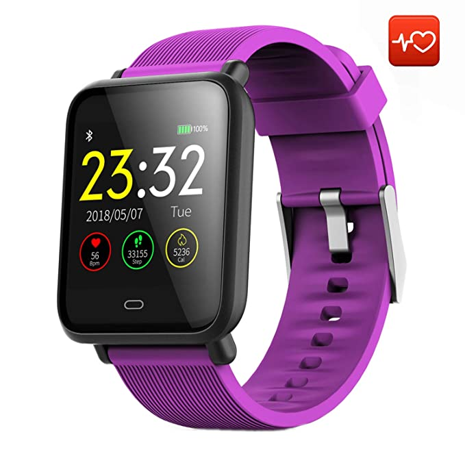 CanMixs Smart Watch CM07 Impermeable IP67 Actividad Fitness Tracker Reloj con monitor de ritmo cardíaco Podómetro Sleep Monitor Cronómetro SMS ...