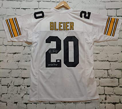 7bf5f15dee9 Rocky Bleier Signed Autographed '4x SB Champs' Pittsburgh Steelers White  Football Jersey - JSA