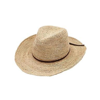 Stroh Western Cowboyhut Herren Damen Gürtel Häkeln Im Freien Strand