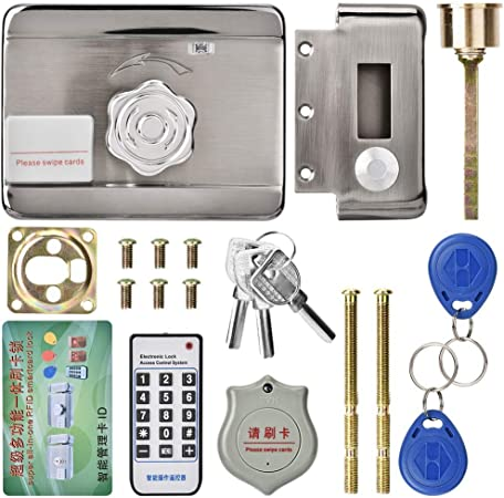 Jingyi Cerradura de Puerta electrónica Segura y Duradera, Acceso de Puerta electrónica ID de Si...