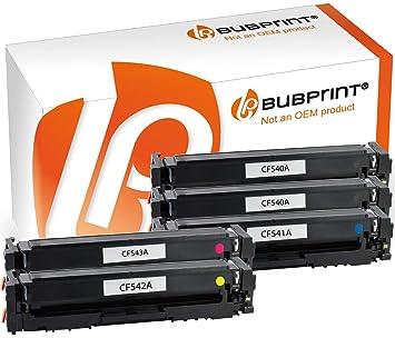 Bubprint 5 tóner Compatible con HP 203 A cf540 a cf541 a cf542 a ...