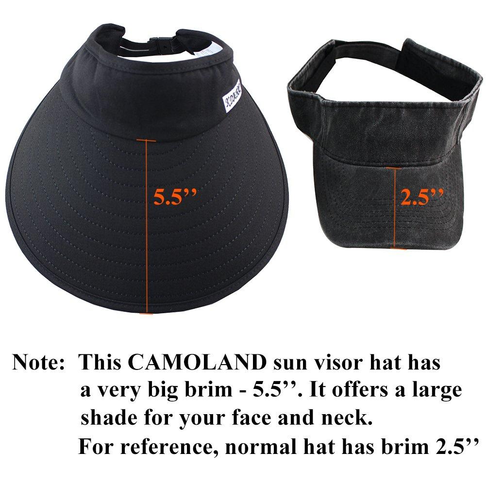 Sun Visor Hats Women 5.5'' Large Brim Summer UV Protection Beach Cap by CAMOLAND (Image #5)