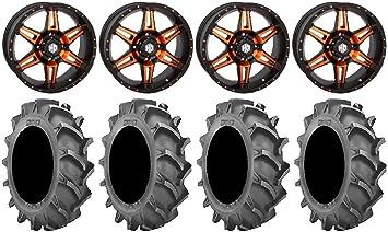 Amazon Com Bundle 9 Items Sti Hd7 18 Wheels Orange Black 33x8