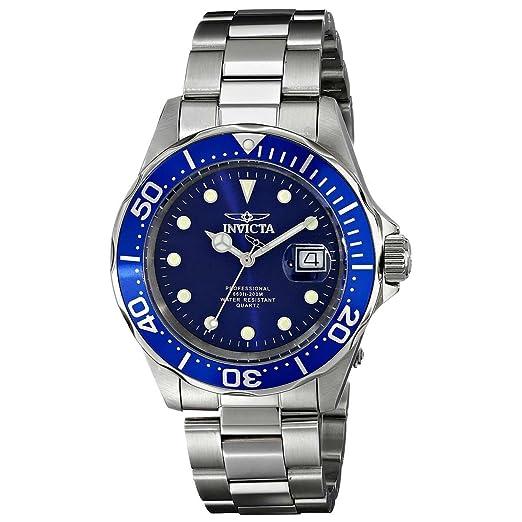 Invicta 17056 Pro Diver Reloj Unisex acero inoxidable Cuarzo Esfera azul: Amazon.es: Relojes