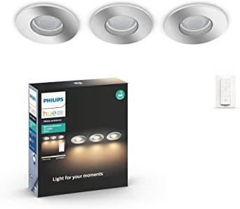 Philips Hue Adore - Pack 3 focos empotrables LED inteligentes en ...