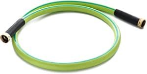 Double Female Connectors Garden Hose 5/8 IN. x 5 FT. Working Under -4°F, Light Weight, Abrasion Resistant, Extreme All Weather Flexibility (5FT Female to Female)