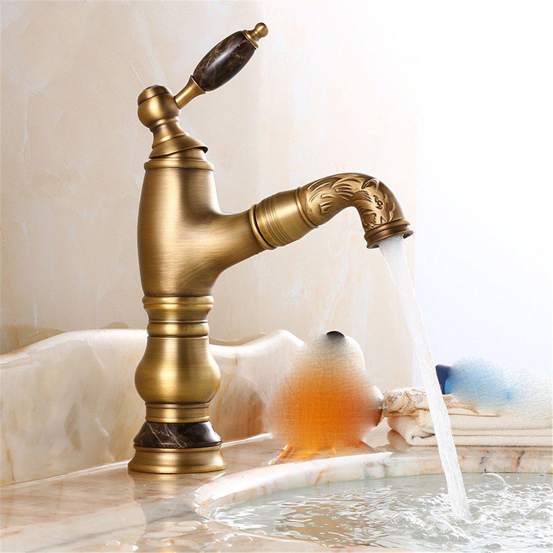 Bijjaladeva Cascada Grifo del Fregadero del bañoEl Lavabo del baño grifos de Oro Rosa Solo Manejar el Doble-Mezcla controlada de Grifo de Agua fría y Caliente Home-en-el-Grifo de Accesorios de baño Grifos de lavabo