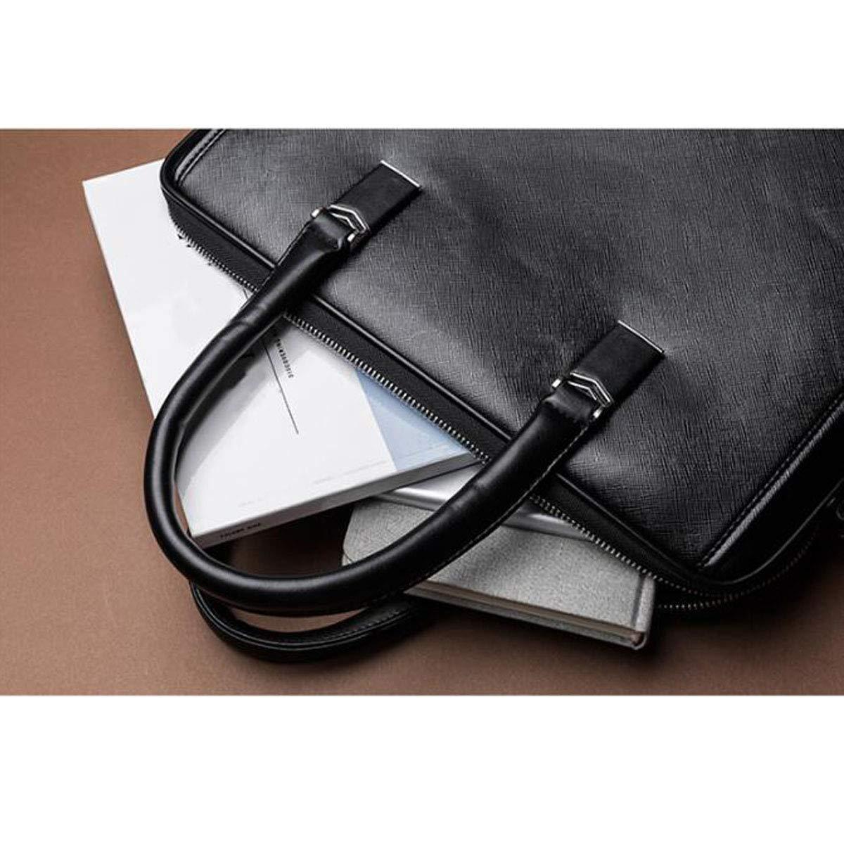 Yougou01 Briefcase Mens Business Tote Black Size: 36628cm Quality Assured Color : Black