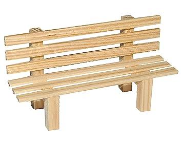 Miniatur Gartenbank / Bank Aus Holz   Für Puppenstube Maßstab 1:12   Puppenhaus  Puppenhausmöbel