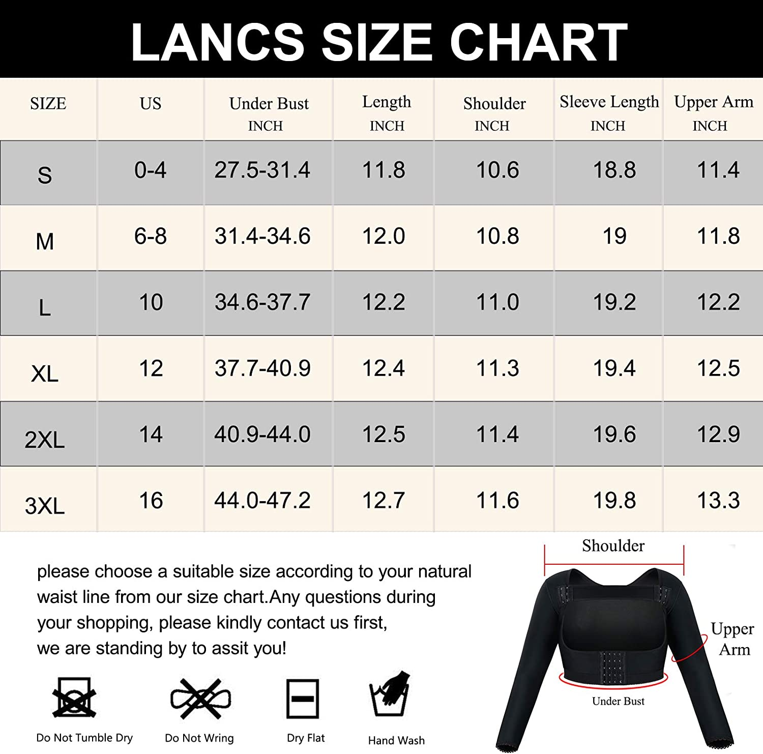 LANCS Women Upper Arm Shaper Post Surgical Compression Sleeves Slimmer Tops Posture Corrector Vest Shapewear at  Women's Clothing store