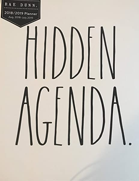 Amazon.com : Rae Dunn Hidden Agenda 12 Month Planner 2018 ...