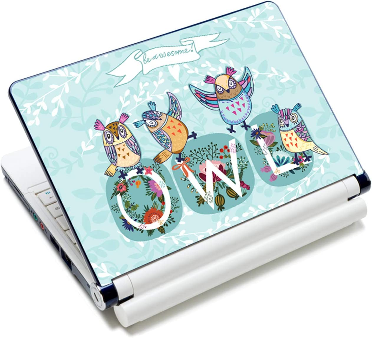 """Laptop Skin Sticker Decal,12"""" 13"""" 13.3"""" 14"""" 15"""" 15.4"""" 15.6"""" Laptop Skin Sticker Protector Cover for Toshiba Hp Samsung Dell Apple Acer Leonovo Sony Asus Laptop Notebook (Cute Owls)"""