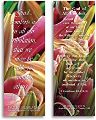 Bible Verse Cards, by eThought – 2 Corinthians 1:3-4 - The God of All Comfort - Pack of 25 Bookmark Size Cards for reading, study, gifts and encouragement.