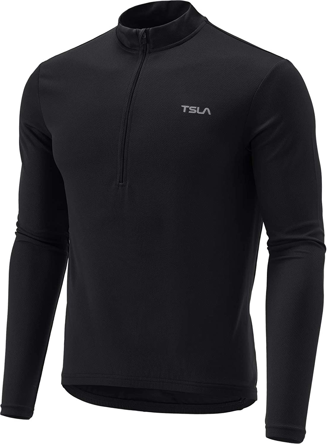 TSLA Mens Cycling Triathlon Jersey Bike Breathable Reflective Quick Dry Short /& Long Sleeve Biking Shirt MCT01 MCT21