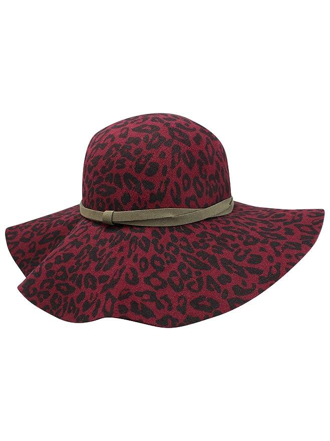 34ecfe2da Luxury Divas Leopard Print Wool Floppy Hat