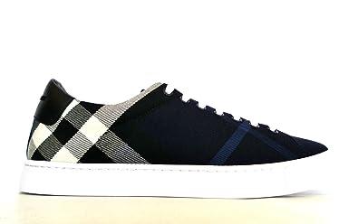 BURBERRY Herren Sneaker Blau Blu Check + Nero
