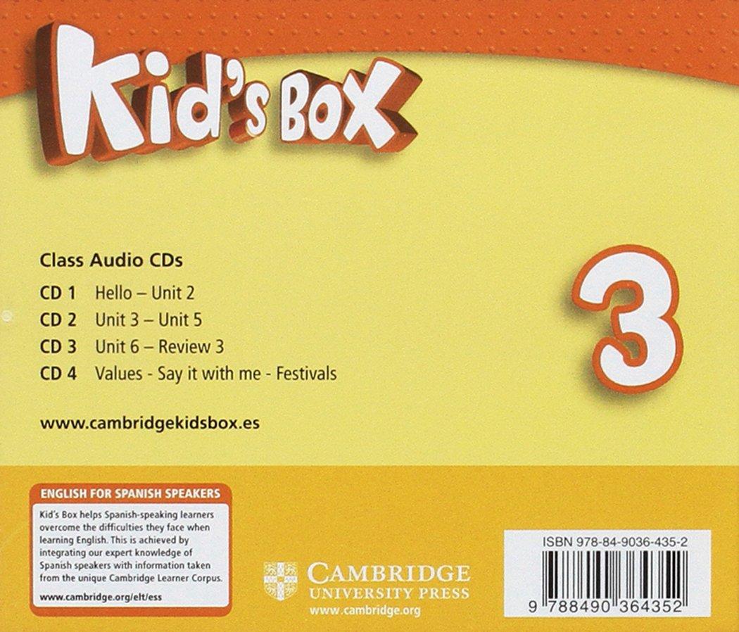 Kid's Box for Spanish Speakers Level 3 Class Audio CDs 4 2nd Edition -  9788490364352: Amazon.es: Caroline Nixon, Michael Tomlinson: Libros en  idiomas ...
