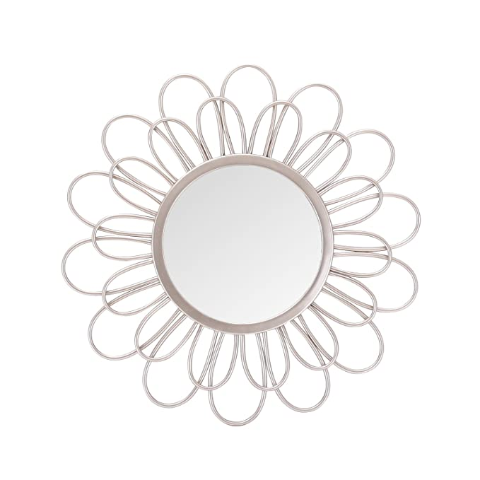 Review Asense Home Collection Mirror, Classic Metal Decorative Wall Mirror (Sunflower)
