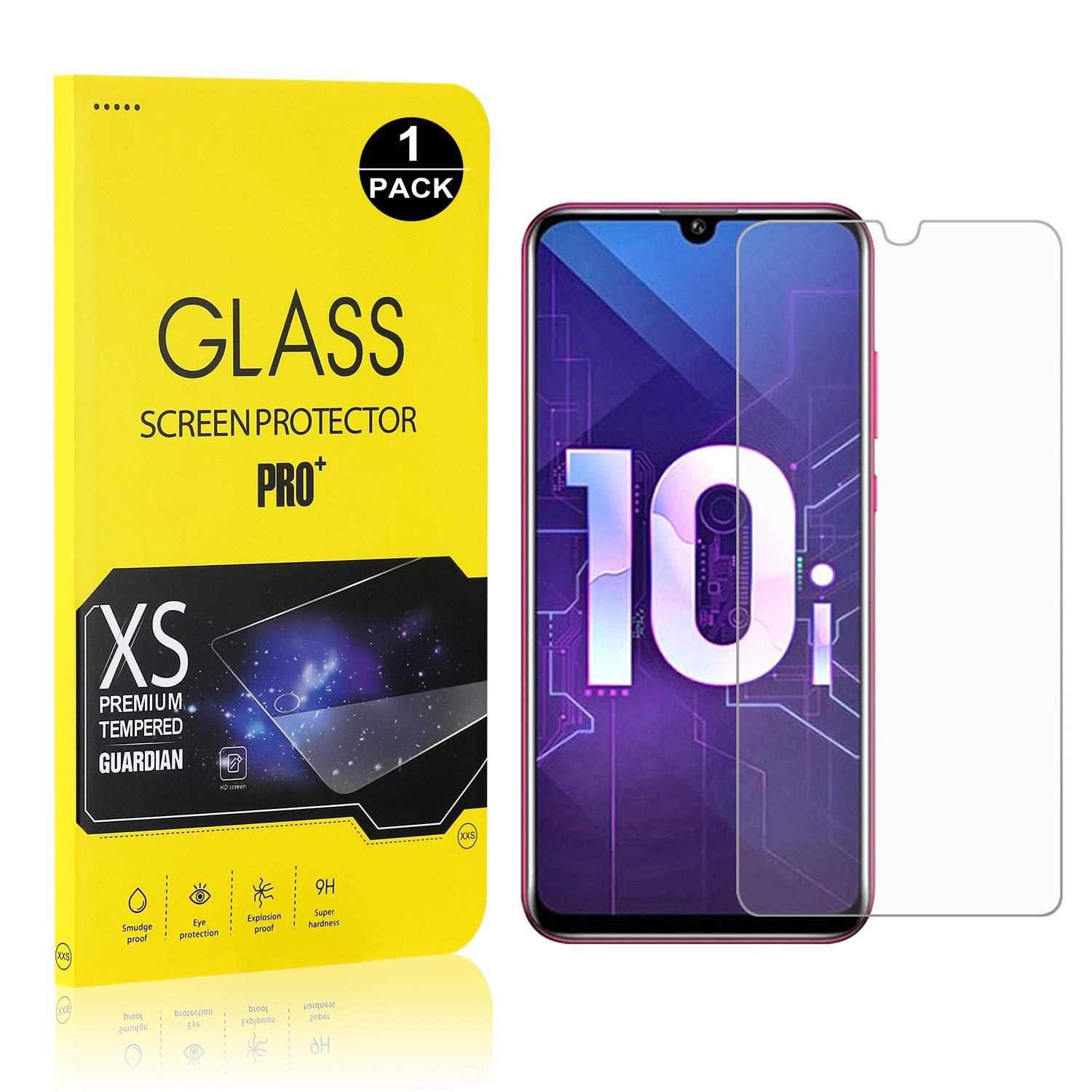 9H Hardness Tempered Glass Screen Protector Film for Huawei P Smart Plus 2019 2 Pack Anti Scratches Bear Village/® Premium Screen Protector for Huawei P Smart Plus 2019 Ultra Thin