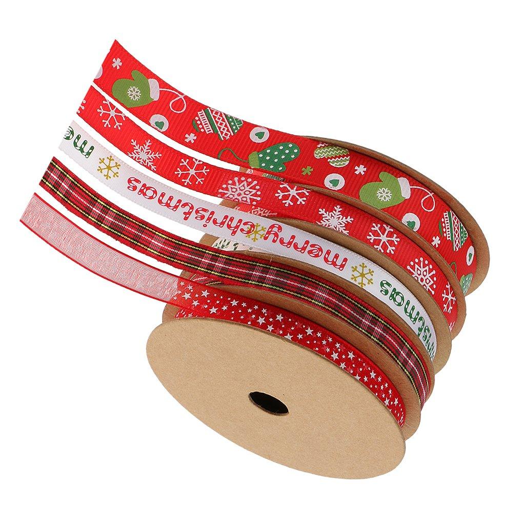 MagiDeal 25m // Set Geschenkband Weihnachten Schleifenband DEKOBAND ...