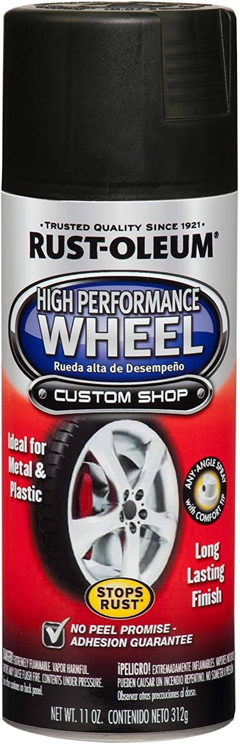Rust-Oleum 248928 Automotive High Performance Wheel Spray Paint, 11 oz., Matte Black