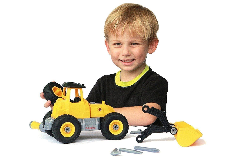 amazon com kidwerkz bulldozer toy take apart toys fun gift for
