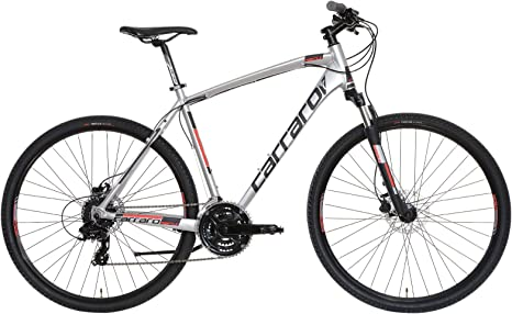 Carraro Azimut SL, Bicicleta Trekking Hombre, Cromo/Rojo, M ...