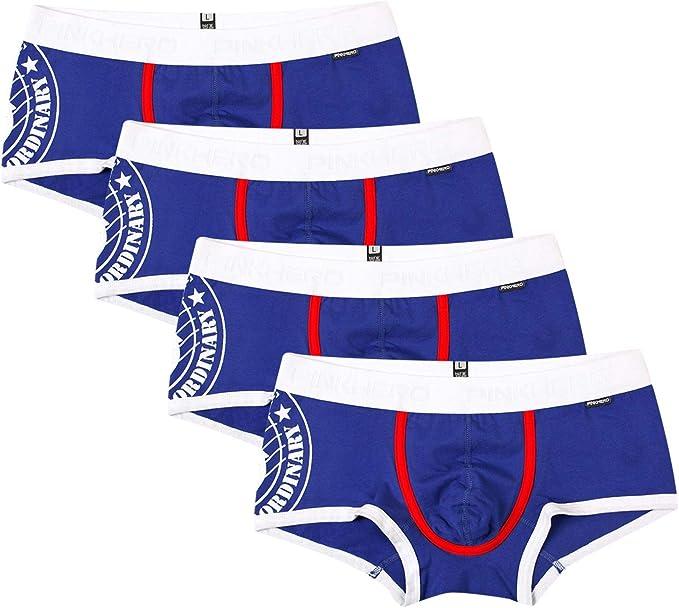 UMIPUBO Pack de 4 Bóxers para Hombre Calzoncillos Slips Bóxer Briefs Algodón Forma U Ropa Interior Trunks Respirable Underwear Shorts: Amazon.es: Ropa y accesorios