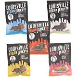Louisville Vegan Jerky - 5 Flavor Variety Pack, 21 Grams of Non-GMO Soy Protein, Gluten-Free Ingredients (Black Pepper, Chipotle, Sriracha Maple, Maple Bacon & Carolina BBQ, 3 oz)