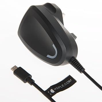 Micro USB UK pared cargador (2 Amp) enchufe de encendedor de ...