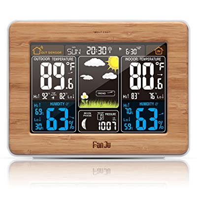 FanJu FJ3365 Wireless Weather Station Color Forecast with Alert