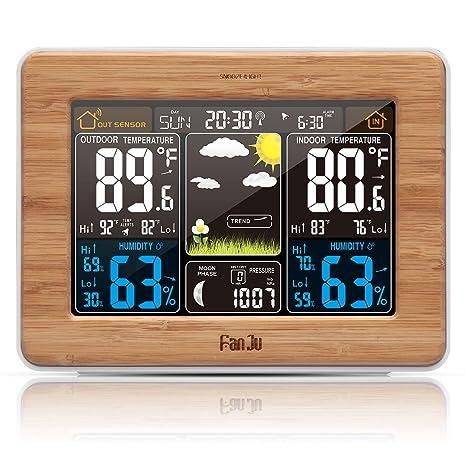 FanJu fj3365 Wireless Color estación meteorológica con Alerta y Temperatura/Humedad/barómetro/Alarma