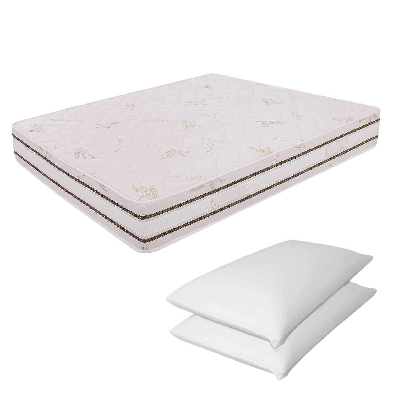 Miasuite Materasso Matrimoniale Sfoderabile Memory Foam 6 cm 170X200 Alto 25 cm + Due Cuscini Memory Foam Alto 13 cm Relax Ortopedico Prezzi offerte