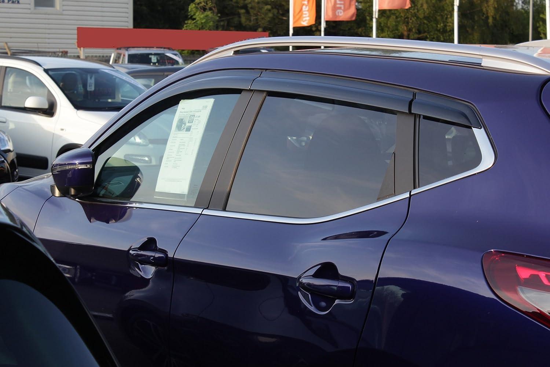 Autoclover Nissan Qashqai 2014 + Set de deflectores de viento (6 piezas) (mojado)