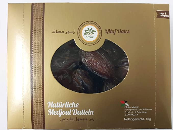 Dátiles Medjool de Palestina   1 Kg de Dátiles de Origen Natural   Deshidratados   Sin azufre y Sin Azúcar   Frutos Secos Crudos   Veganos y ...