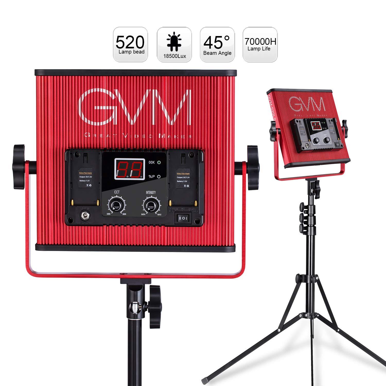 GVM LED Video Light 520 CRI97 + & TLCI 97+ 18500lux @ 20 inch Bi-Color 3200-5600K for Photography Video Lighting Studio Interview Portrait by GVM Great Video Maker (Image #5)