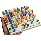 small white peg board toy fine motor toy for toddlers and therapy - Peg Boards