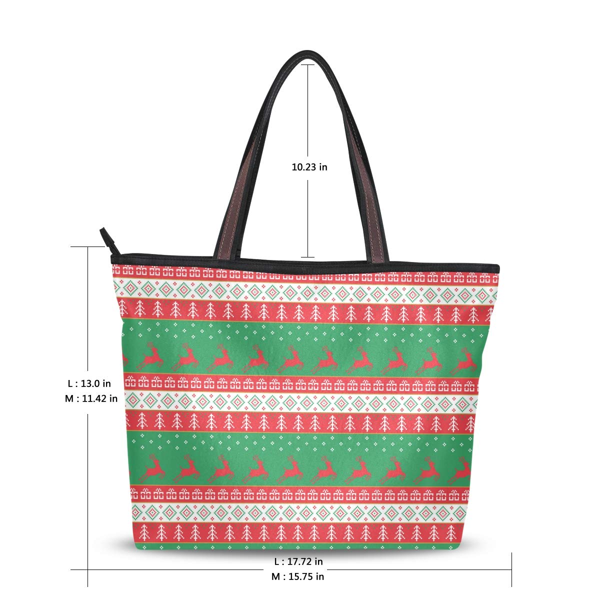 Before The Christmas Decoration Women Shoulder Bag Lightweight Multi-Pocket Business Work Office Briefcase